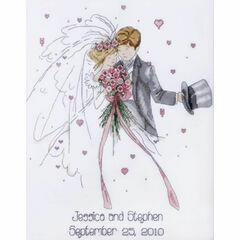 Wedding Couple Cross Stitch Kit