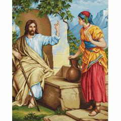 Jesus At The Wall Cross Stitch Kit