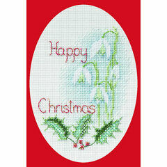 Snowdrop Cross Stitch Christmas Card Kit