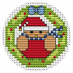 Robin Wreath Cross Stitch Card Kit