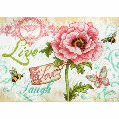 Live, Love, Laugh Cross Stitch Kit