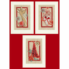 Christmas Symbols - Set Of 3 Cross Stitch Card Kits
