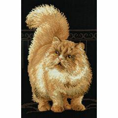 Persian Cat Cross Stitch Kit