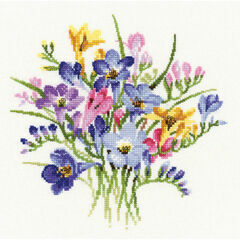 Freesia Posy Cross Stitch Kit