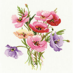 Poppy Posy Cross Stitch Kit
