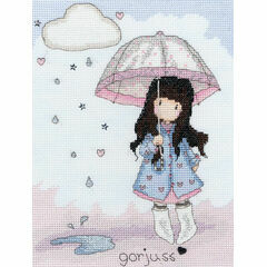 Gorjuss Puddles Of Love Cross Stitch Kit