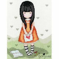 Gorjuss I Gave You My Heart Cross Stitch Kit