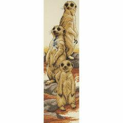 Meerkats Cross Stitch Kit