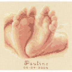 Ten Tiny Toes Birth Record Cross Stitch Kit