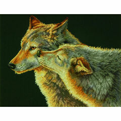 Wolf Kiss Cross Stitch Kit