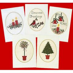 Cross Stitch Christmas Card Kits (Set of 5)