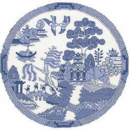 The Willow Pattern Cross Stitch Chart