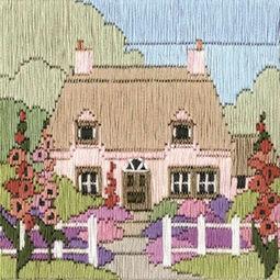 Hollyhock Cottage Long Stitch Kit