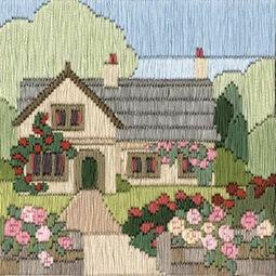 Rambling Rose Cottage Long Stitch Kit