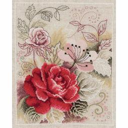 Rose Fantasy Cross Stitch Kit