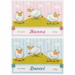 Counting Sheep Birth Sampler Cross Stitch Kit