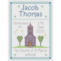 Boy Christening Cross Stitch Kit