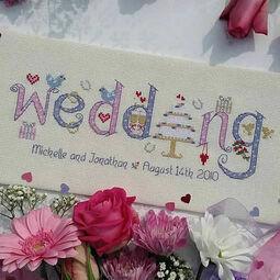 Wedding Word Sampler Cross Stitch Kit