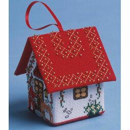 Final Preparations Santa House 3D Cross Stitch Kit