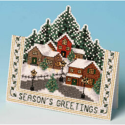 Christmas Village Card 3D Cross Stitch Kit