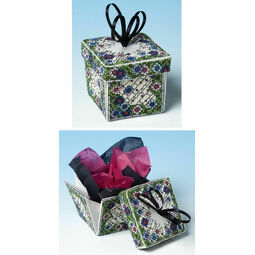 Stained Glass Flowers Exploding Box 3D Cross Stitch Kit