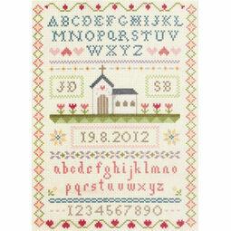 Classic Wedding Sampler Cross Stitch Kit