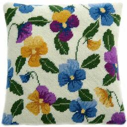 Pansy Garden Herb Pillow Tapestry Kit