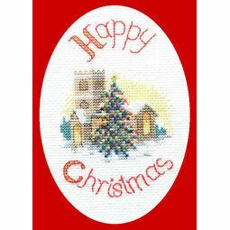 Midnight Mass Christmas Card Cross Stitch Kit