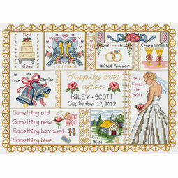 Wedding Collage Cross Stitch Kit