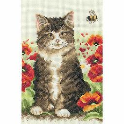 Cat & Bee Cross Stitch Starter Kit