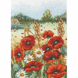 Poppy Field Cross Stitch Starter Kit