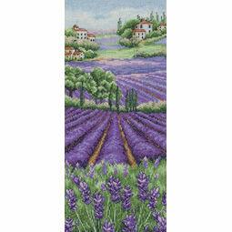 Provence Lavender Landscape Cross Stitch Kit