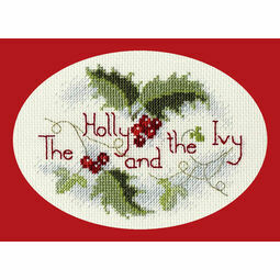 The Holly & The Ivy Christmas Cross Stitch Card Kit