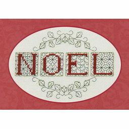 Noel Christmas Card Cross Stitch Kit