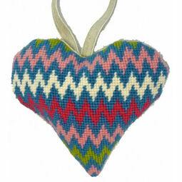 Bargello Lavender Heart Tapestry Kit