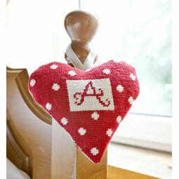 Red Alphabet Lavender Heart Tapestry Kit