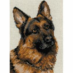 German Shepherd Cross Stitch Kit