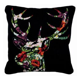 Stag Silhouette Tapestry Cushion Panel Kit
