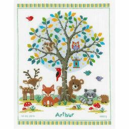 Into The Woods Birth Sampler Cross Stitch Kit