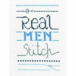 Real Men Cross Stitch Kit