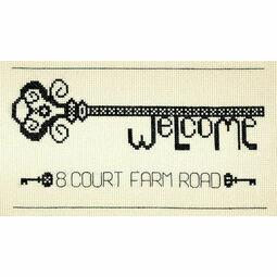 Vintage Welcome Key Cross Stitch Kit