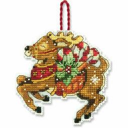 Reindeer Ornament Cross Stitch Kit