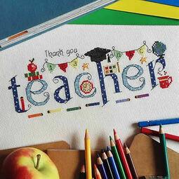 Thank You Teacher Cross Stitch Kit