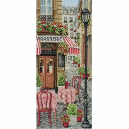 French City Scene Cross Stitch Kit