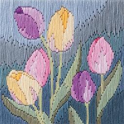 Tulips Long Stitch Kit