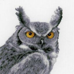 Grey Owl Cross Stitch Kit