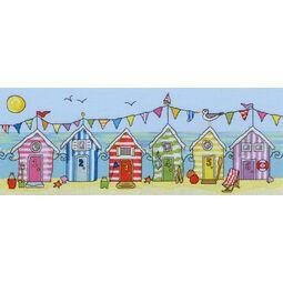 Beach Hut Fun Cross Stitch Kit