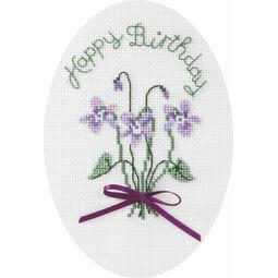 Violets Cross Stitch Card Kit
