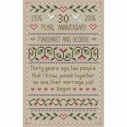 Pearl Wedding Anniversary Cross Stitch Kit