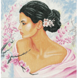 Lady With Blossoms Cross Stitch Kit